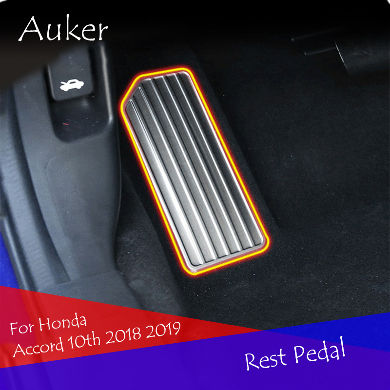 Car Stainless Steel Footrest Footrest Plate Accelerator Car Interior <font><b>Accessories</b></font> Car Styling for <font><b>Honda</b></font> <font><b>Accord</b></font> 10th <font><b>2018</b></font> 2019 image