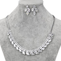 Clearance Lose Money Sale Random Designs Cubic Zirconia Crystal Necklace And Earring Wedding Bridal Jewelry Sets