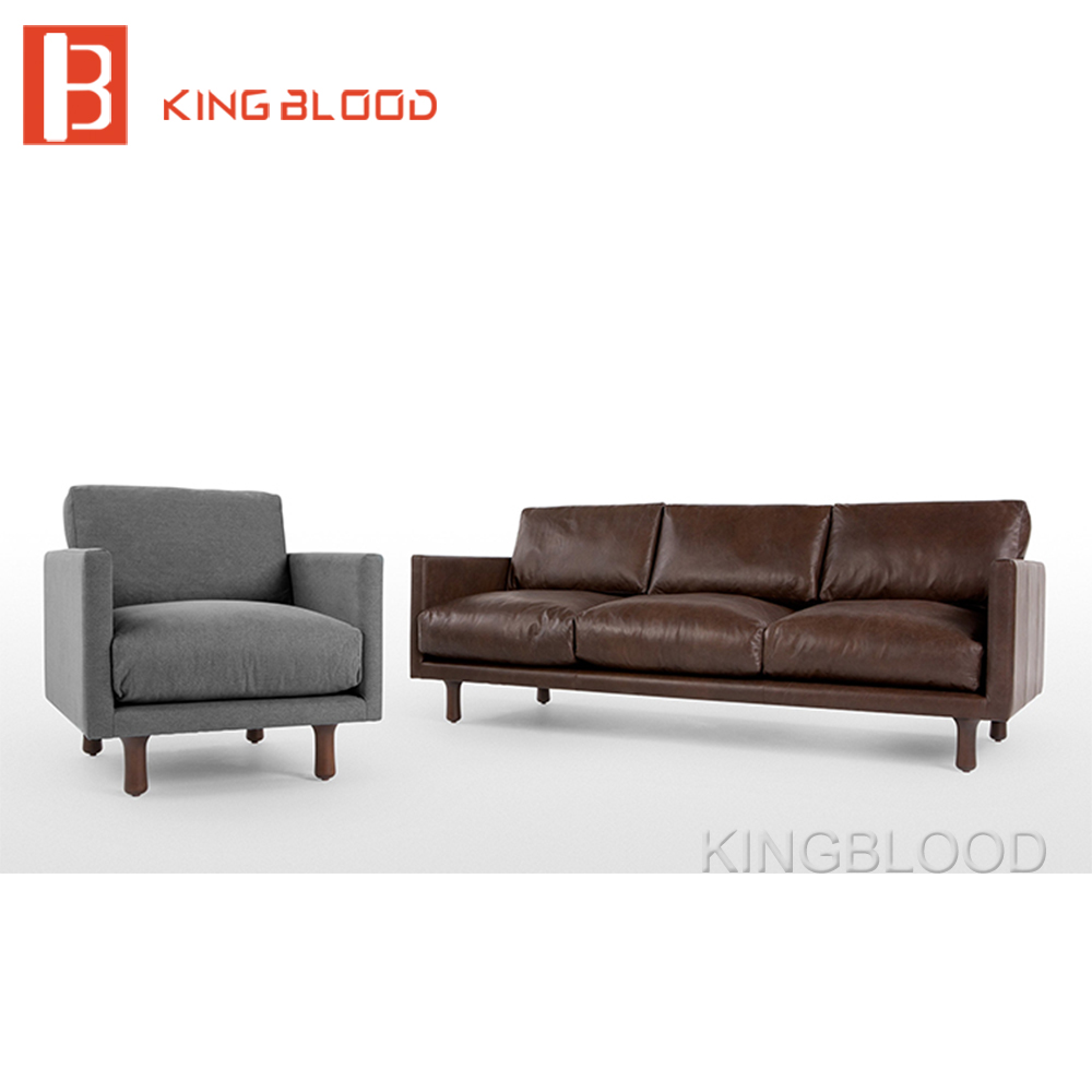 3 Seater Solid Wood Frame Classic Heated Leather Sofa For Home Fabric New Design Set Sofa