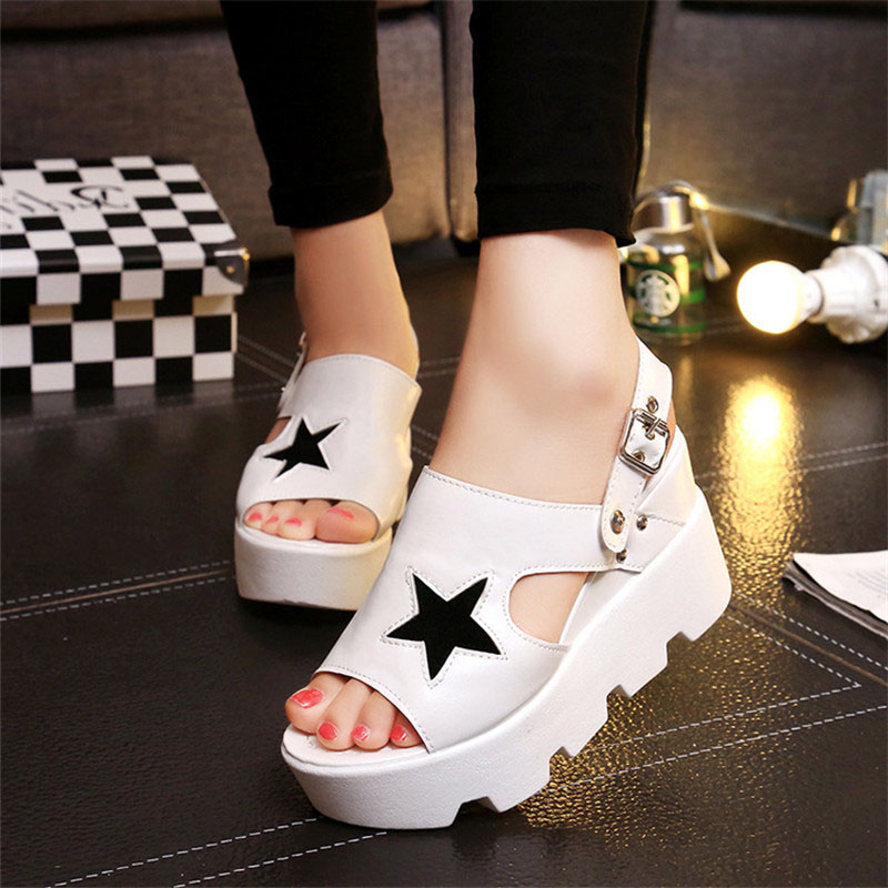 Hot Women Sandals Platform Summer Sandals Women High Heels Platform Sandals Wedges gladiator sandals women Summer Shoes 2017 phyanic 2017 gladiator sandals gold silver shoes woman summer platform wedges glitters creepers casual women shoes phy3323
