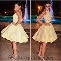 Vestido de Coctel elegante 2016 Del Hombro Fajas de Encaje Partido Prom Vestidos Sobre La Rodilla Corto Vestidos Vestido De Festa Curto