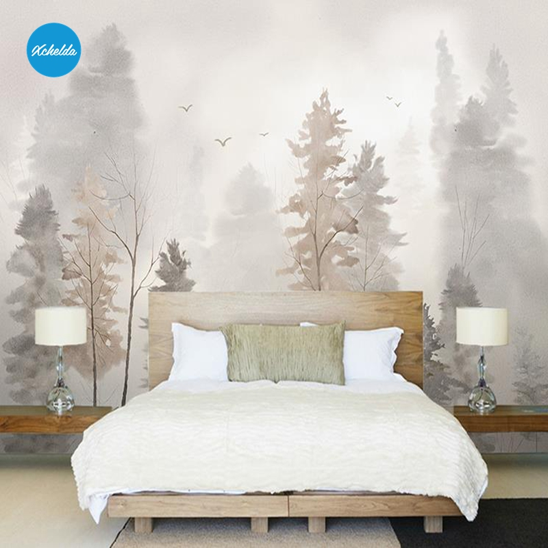 Xchelda Custom 3d Wallpaper Design Fog Of The Forest Photo Kitchen