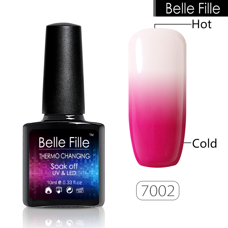 BELLE FILLE Temperature Color Changing Nail Gel Polish Long lasting ...