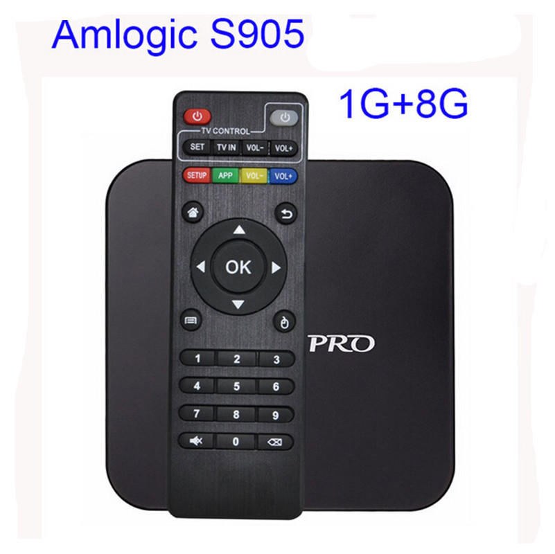 Android tv box Android 4.4 Amlogic S905 Quad HDMI 2.0 Cargado complementos WiFi