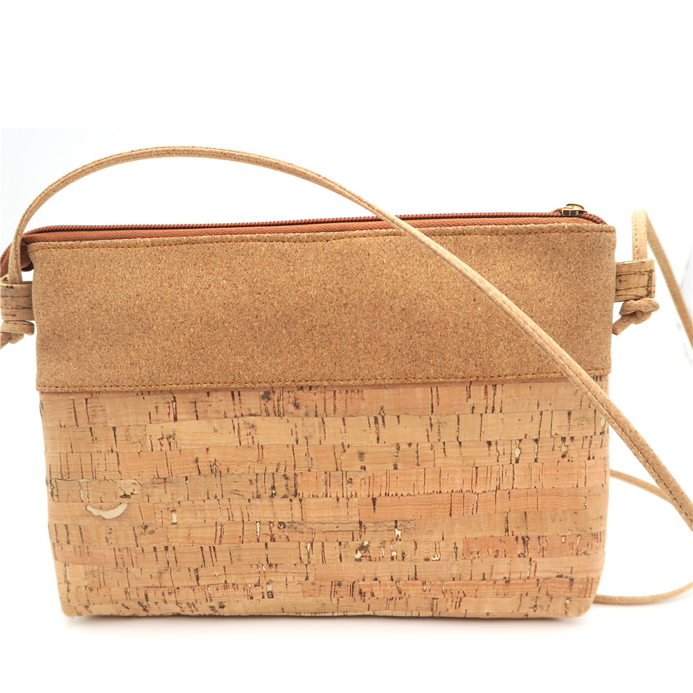 Natural cork small body cross Bags with gold color cork Messenger bag original handmade Eco Bag-183 natural cork watch strap brown cork with pu leather handmade vegan high quality e 001