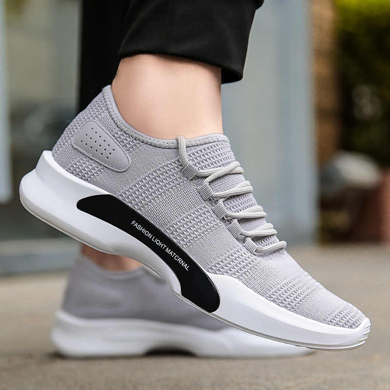 2018 Lace Up Men Casual Shoes Spring Autumn Breathable Mesh Tenis Shoes  Walking Footwear Male Shoes 9ee0caec050e