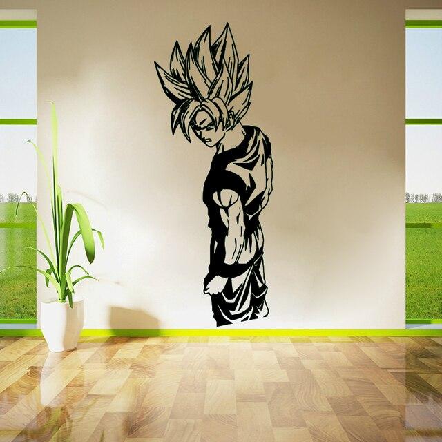 Wall Stickers Living Room Decor Art Bedroom Decals Removable Vinyl Wallpaper Super Saiyan Goku Dragon