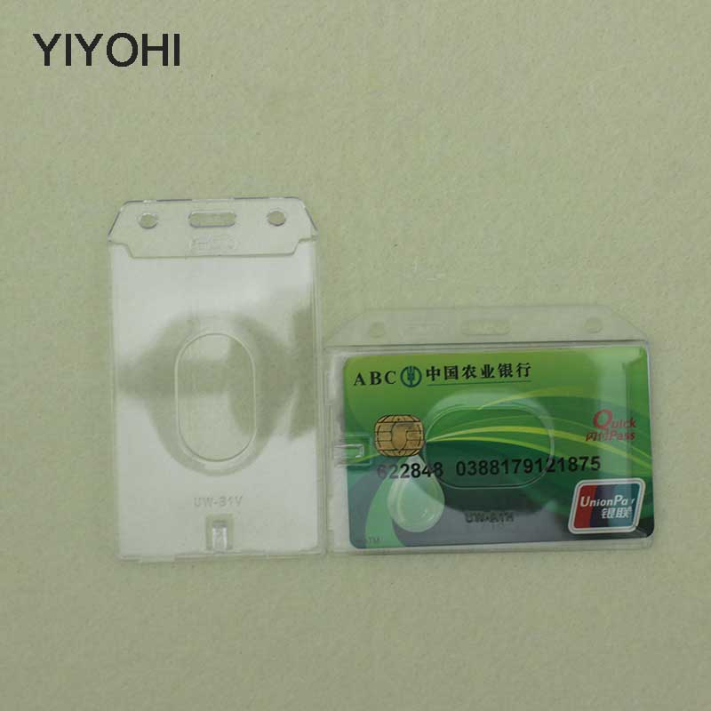 все цены на YIYOHI 2 PCS High Definition Wholesale Name Credit Card Holders PU Bank Card Neck Strap Card Bus ID Holders Identity Work Permit онлайн