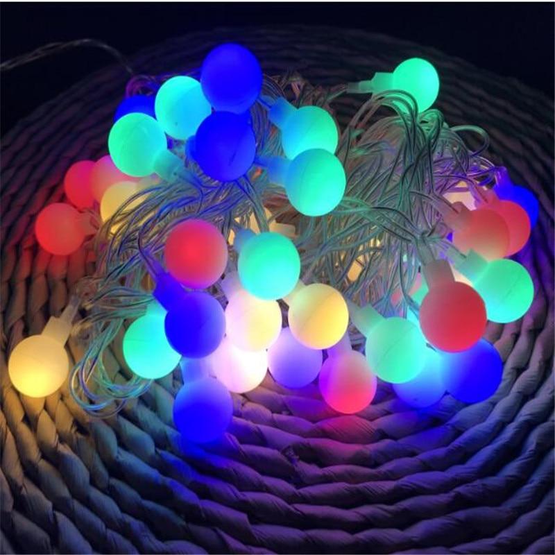 10m White Ball 50LED Fairy String Lights Memory Control Romantic Outdoor Light for Home Garden Wedding Decoration in Lighting Strings from Lights Lighting