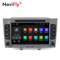 NaviFly Android 7.1 Car dvd player for Peugeot 308 Peugeot 408 with GPS Navi 4G WIFI 1024*600 BT DVR Camera 1080P video RDS