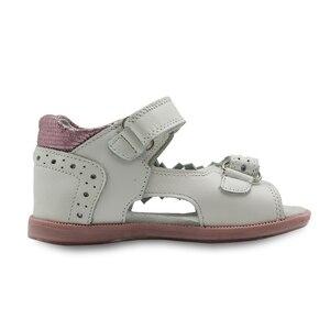 Image 3 - Apakowa/летние сандалии для девочек; Модная детская кожаная обувь принцессы на плоской подошве с цветочным принтом; Детская обувь; Поддержка арки; Европейские размеры 19 23
