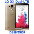 "Lg g3 dual lte d858 32 gb abierto original gsm 3g y 4g android dual sim quad-core ram 3 gb 5.5 ""13MP WIFI GPS D858 Teléfono Móvil"