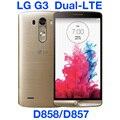 """Lg g3 dual lte d858 32 gb original desbloqueado gsm 3g & 4g android dual sim quad-core ram 3 gb 5.5 """"D858 13MP WIFI GPS Do Telefone Móvel"""