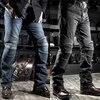 Classic KOMINE Motorcycle Jeans Drop Resistance Slim Denim Cycling Racing Pants Motocross Off-road Hockey Pants with Protector