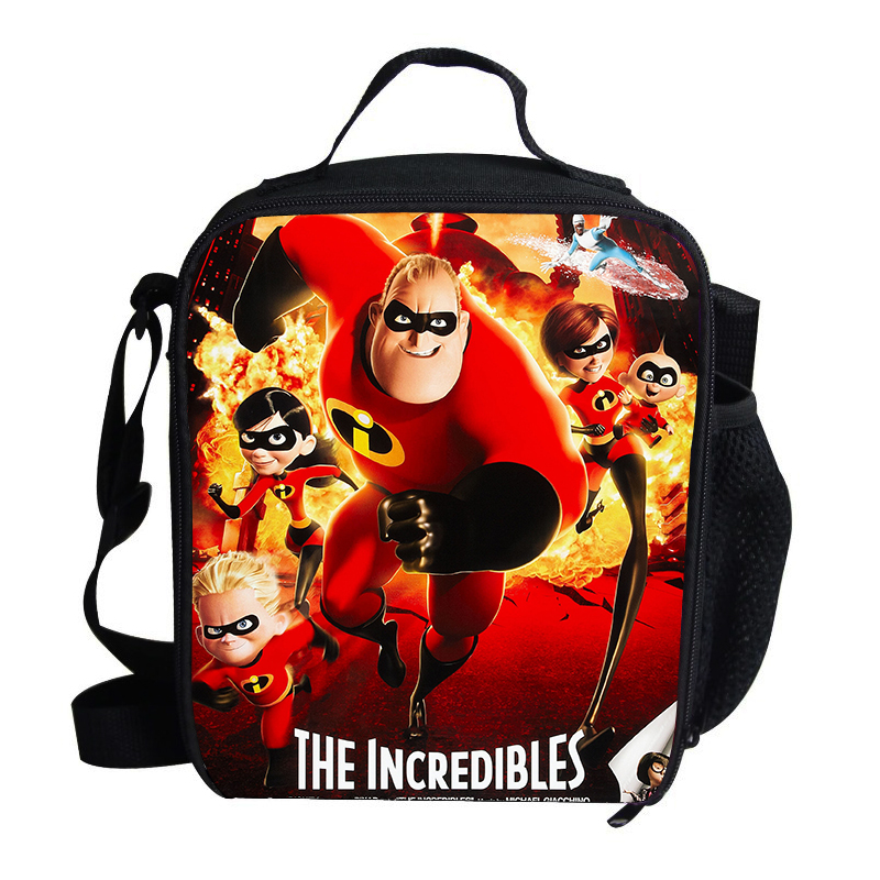Popular Cartoon Film The Incredibles For Kids Lunch Super Dad/Mom/Kids Lunch Bag Thermal Insulated For Children School image
