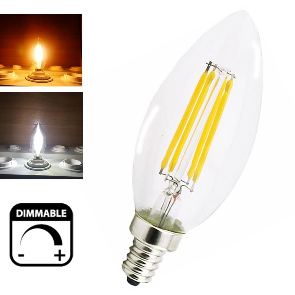 dimmable 2w 4w led e14 filament bulb candelabra light 220v european base led torpedo shaped. Black Bedroom Furniture Sets. Home Design Ideas