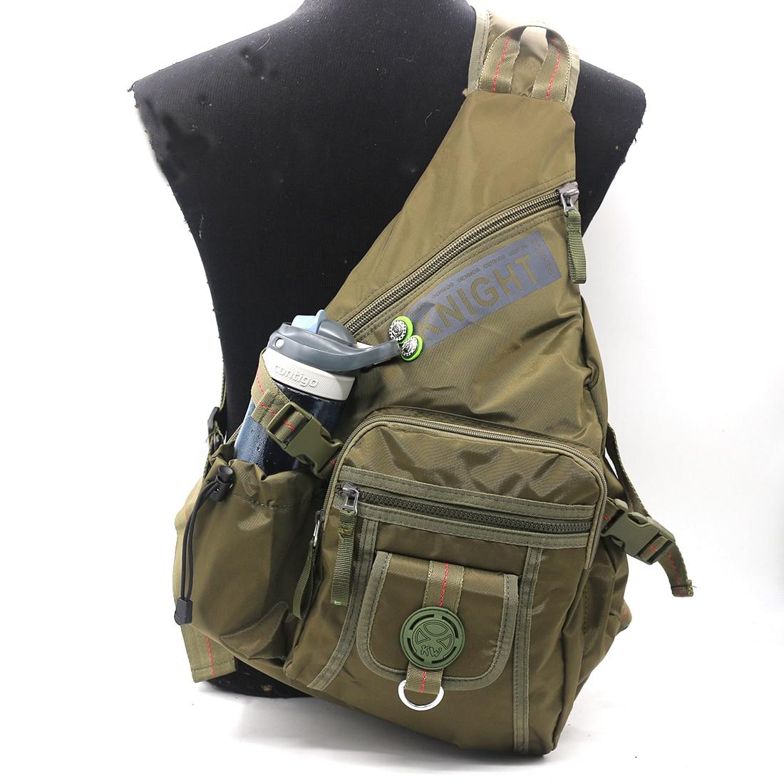 fb85da2342c7 Нейлоновая Мужская нагрудная сумка высокого качества через плечо, сумки для  воды, Повседневная Большая емкость