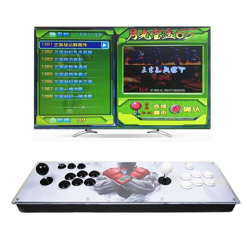 Prise en charge de la Console de jeux d'arcade à domicile à deux joueurs 1399 en 1 Joystick jeu de combat sortie HDMI \ VGA pour les jeux neogeo