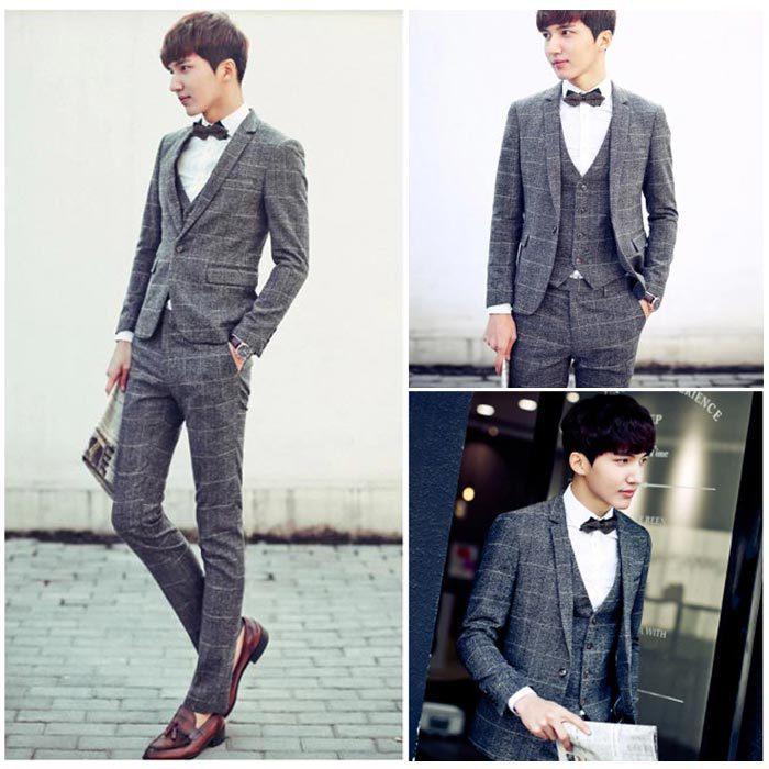 2015 Baru Jaket Celana Rompi Pria Jas Kotak