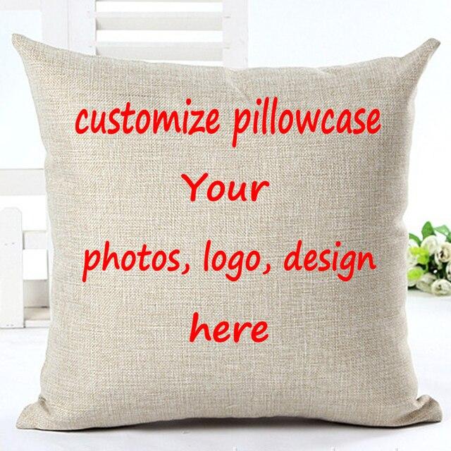 Biancheria di Cotone Cuscino Personalizzato Stampa Personalizzata Pillow Case De