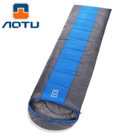 AOTU Outdoor Sleeping Bag Adult Thermal Autumn Winter Envelope Hooded Travel Camping Water Resistant Thick Sleeping Bag 336