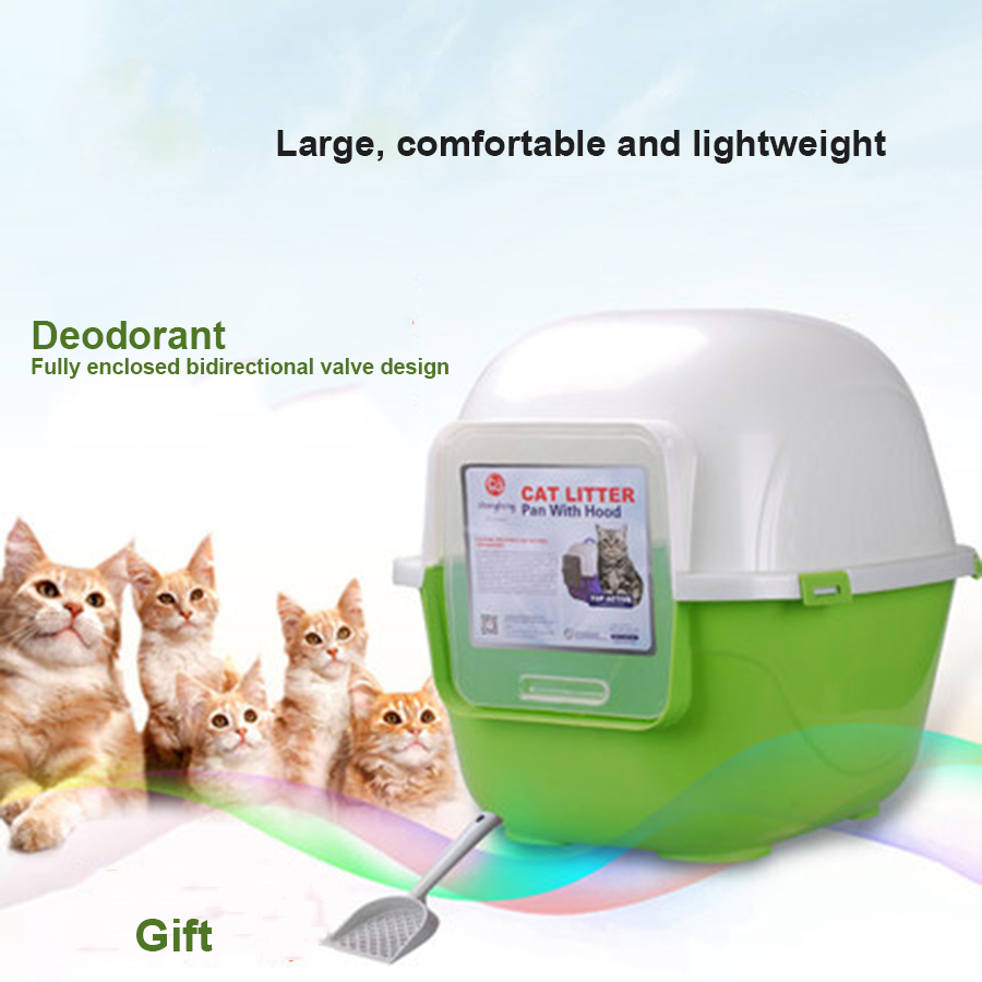 Indoor Large Pet Dog Toilet Cats Training Pet Potty Closed Litter Box Kedi Kumu Clean Up