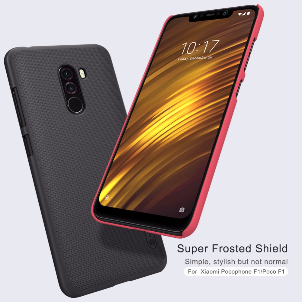 Pocophone F1 Case Nillkin Super Frosted Shield Back Cover Case For Pocophone F1 With Retail Package Fitted Cases Aliexpress