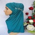 2017 Mujeres Musulmanes Del Hijab Islámico Amira Abaya Bufanda de Moda Caps Underscarf Sombreros Oriente medio Nuevo Estilo Caliente de La Venta