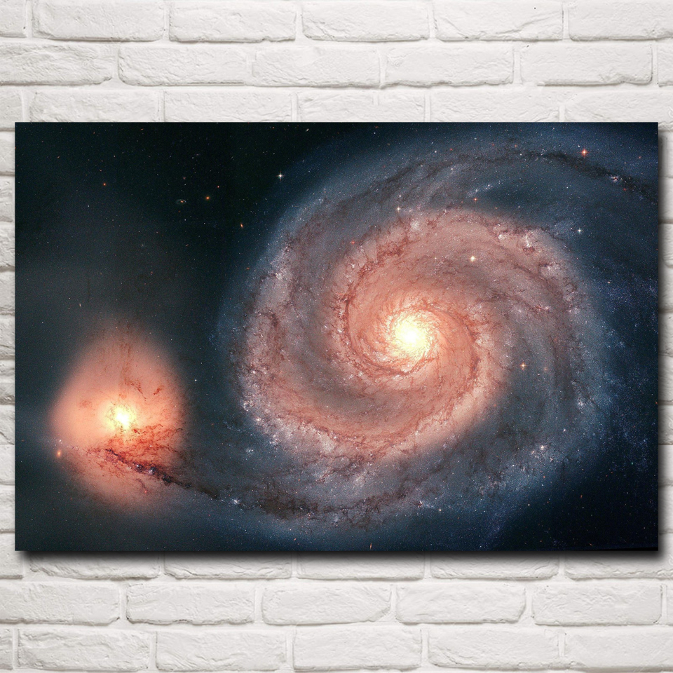 space galaxy stars science art silk fabric poster prints home wall