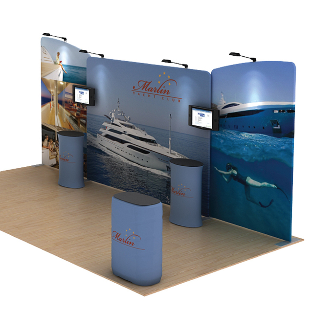 Trade Show Booth Walls : Ft portable trade show displays booths backdrop walls pop up