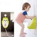 Baby boy Urinal Pee Sapo e treinamento do toalete Da Coruja do bebê colorido Crianças Potty Do Bebê Urina Groove PP ligado Mictório para crianças