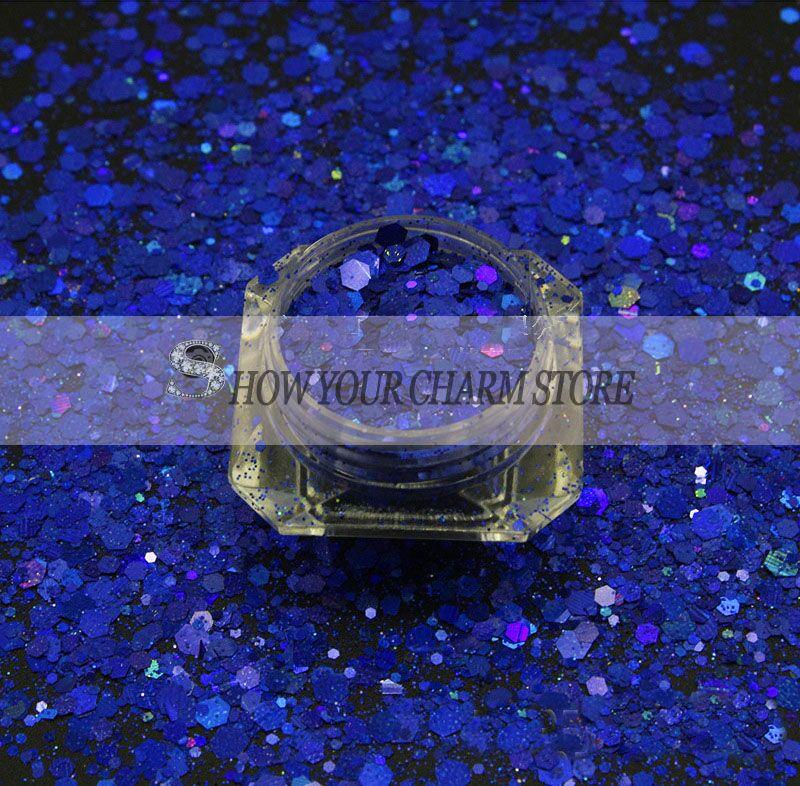 13 kleuren 1 KG Holografische Laser Rose Glitter Mix Hexagon Paillette Spangle Poeder Shape voor Nail Art Glitter Craft Decoratie-in Nagel Glitter van Schoonheid op  Groep 3