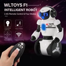 Wltoys F1 Smart Robot Entertainment 2.4G Remote Control Intelligent Motion Sensing Carrier Robot RC Toy Gift for Children Kids(China)