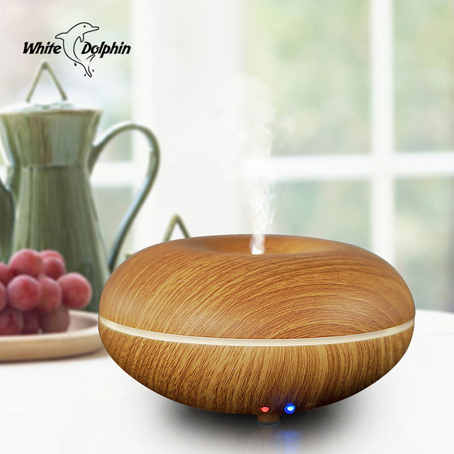 Air Conditioning Appliances Aromatherapy Air Humidifier LED Light Wood Grain Sleep Mist Maker Aroma Essential Oil Diffuser