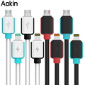 Aokin Colorful Plug Fast Charging Data Sync Micro USB Cable for ios Phone 7 6 6s Plus 5s for Samsung HTC Phone Data Line Cable