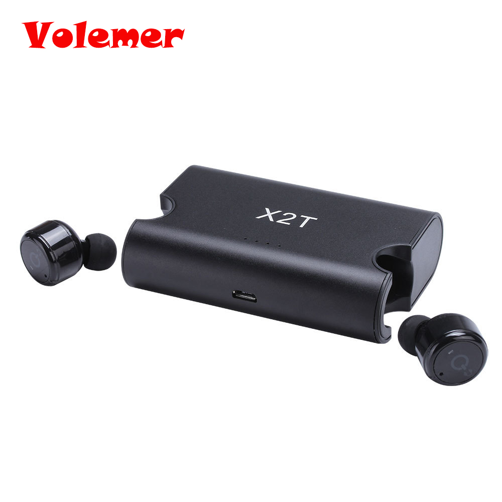 Volemer Wireless Bluetooth Headset CSR 4.2 Invisible Twins Bluetooth Earphone TWS Earbuds with Magnetic Charging Case Headphone