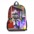 3d Cartoon Design 2015 New Plants VS Zombies Schoolbags for Students Fashion Kids PVZ Game School Backpack Book Bags Child