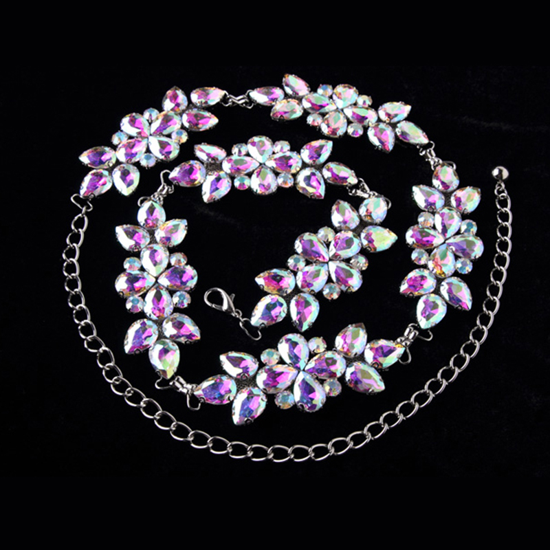 Women Belly Dance Accessories Rhinestone Waists Belt for Dance Belly Chain Jewelry Body Chain filigree polished bowknot flat belly chain