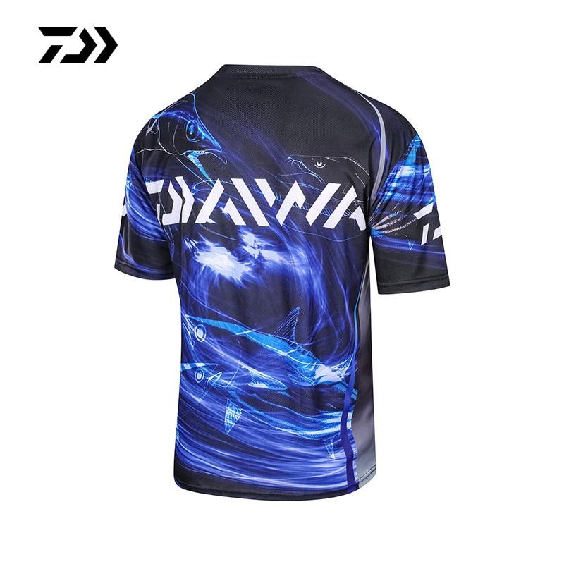 Daiwa летняя рыболовная рубашка с короткими рукавами, дышащая Спортивная одежда для рыбалки, принт, рыболовная футболка, быстросохнущая одежда Daiwa