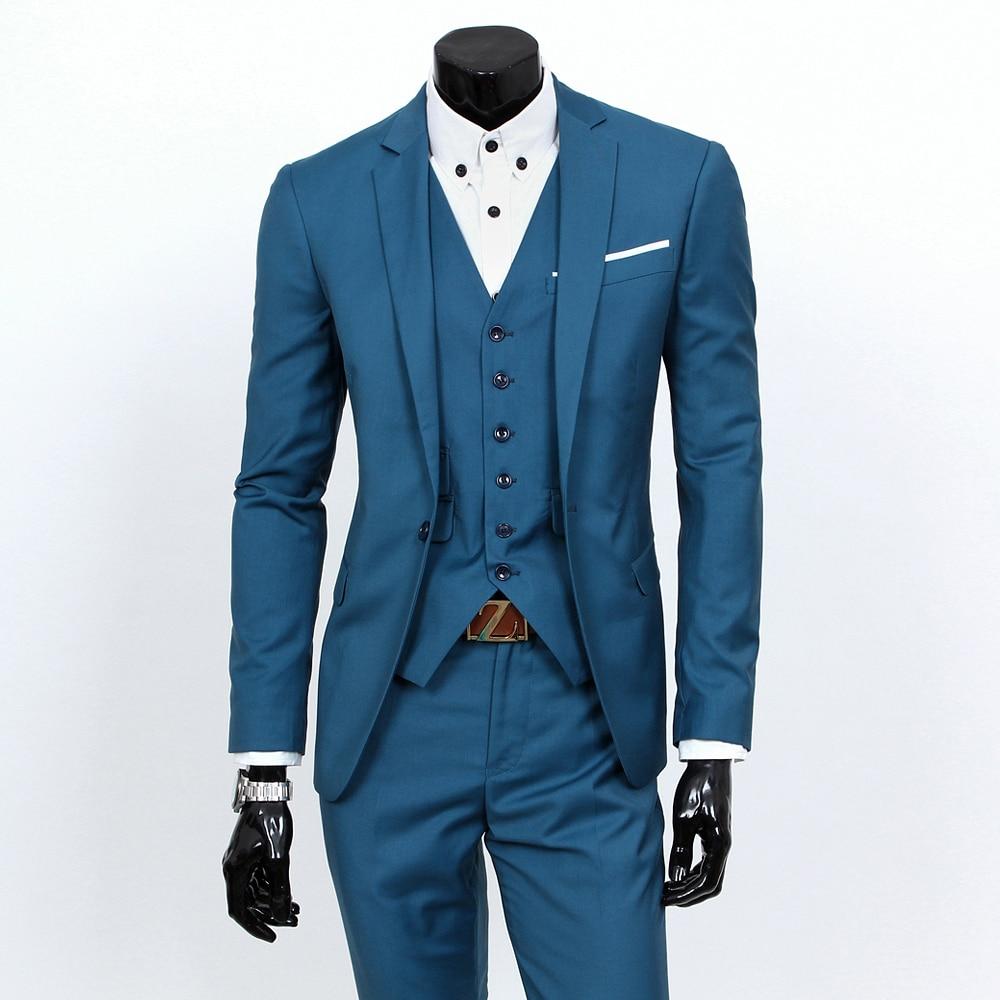 New 2018 Mens Light Grey Suits Jacket Pants Formal Dress Men Suit ...