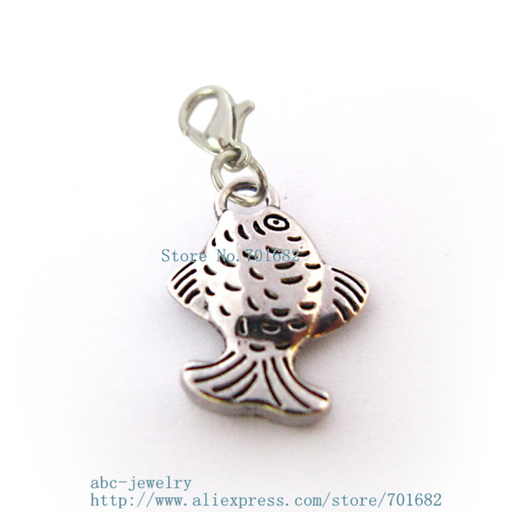 Fashion Jewelry Fish Dangling Charm Bead For European Style Charm Bracelets