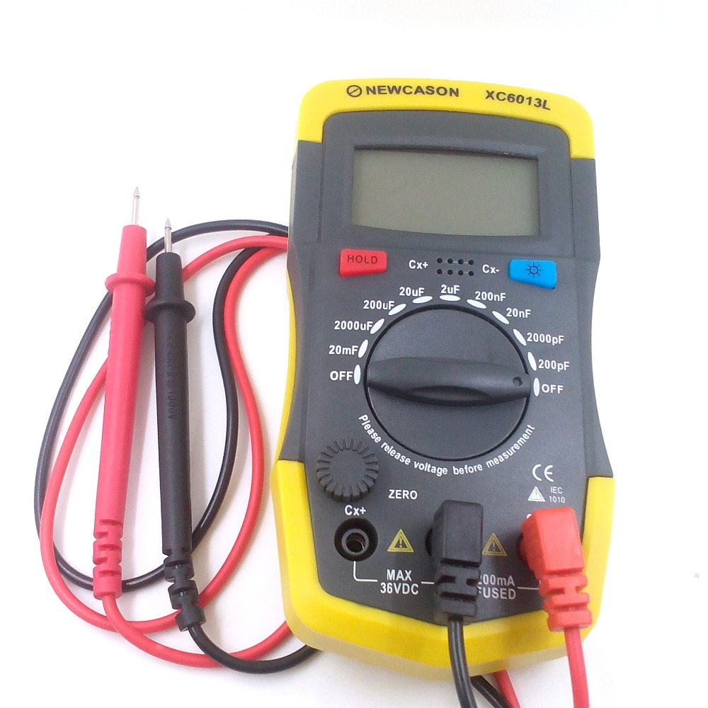 In Circuit Capacitor Tester : Digtital capacitance meter xc l capacitor tester mf uf