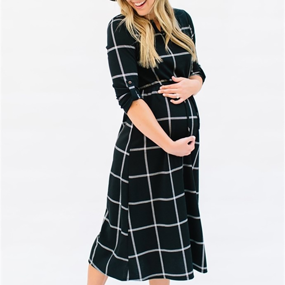 Feitong 018 Women Summer style Pregnant Sexy Photography Sexy Women Boho Maxi Club Props Casual Nursing Boho Chic Tie Long Dress
