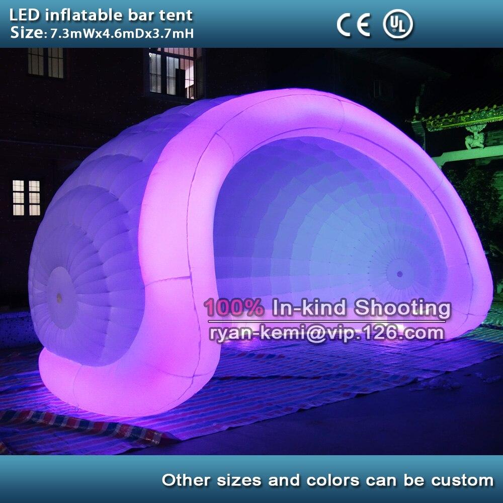 Гигантский портативный надувные бар палатка с LED надувной купол палатки изменение цвета под надувные событий палатка