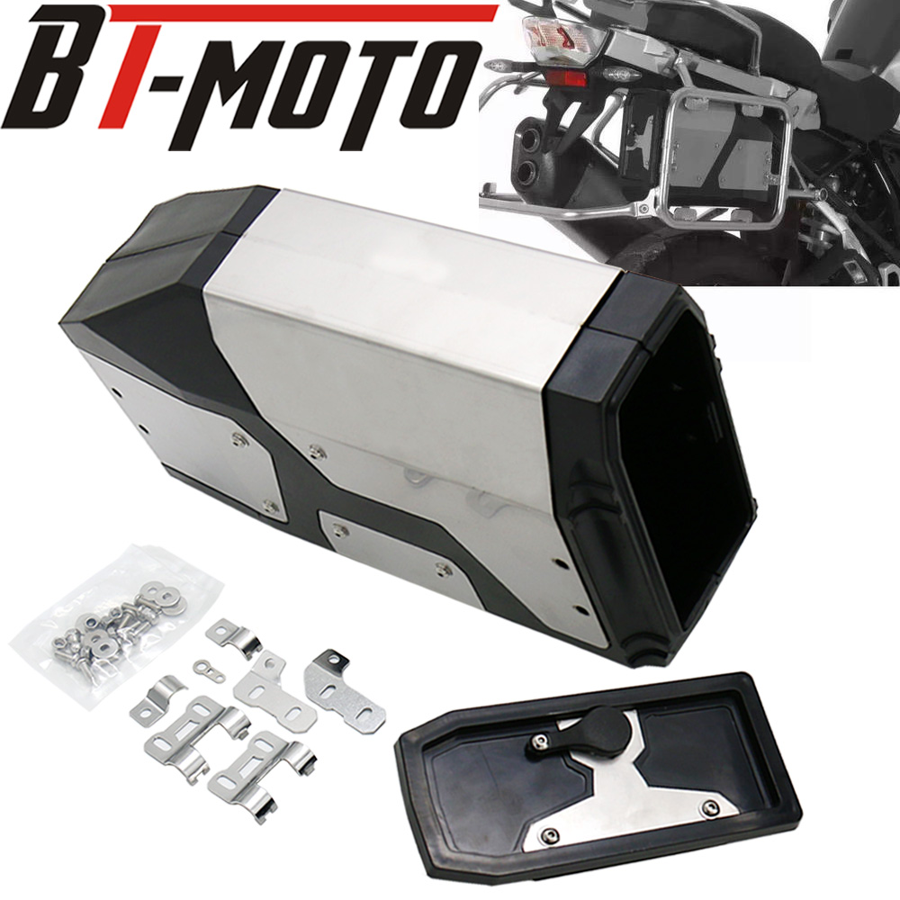Motorcycle Decorative Aluminum Box Liters for Left Side Bracket For BMW <font><b>R1200GS</b></font> <font><b>LC</b></font> <font><b>Adventure</b></font> R 1200 GS Tool Box 2013-2019 17 18 image