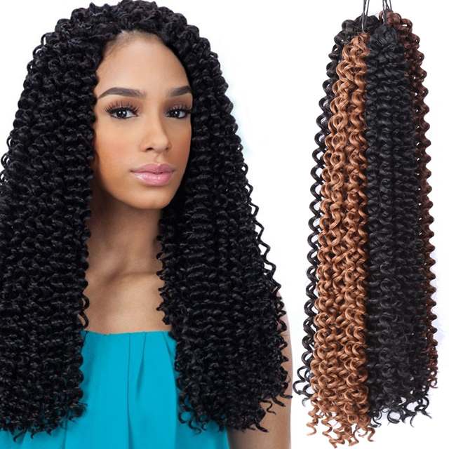 Crochet Braiding Hair 18 20inch Curly Hair Weaves Deep Weave