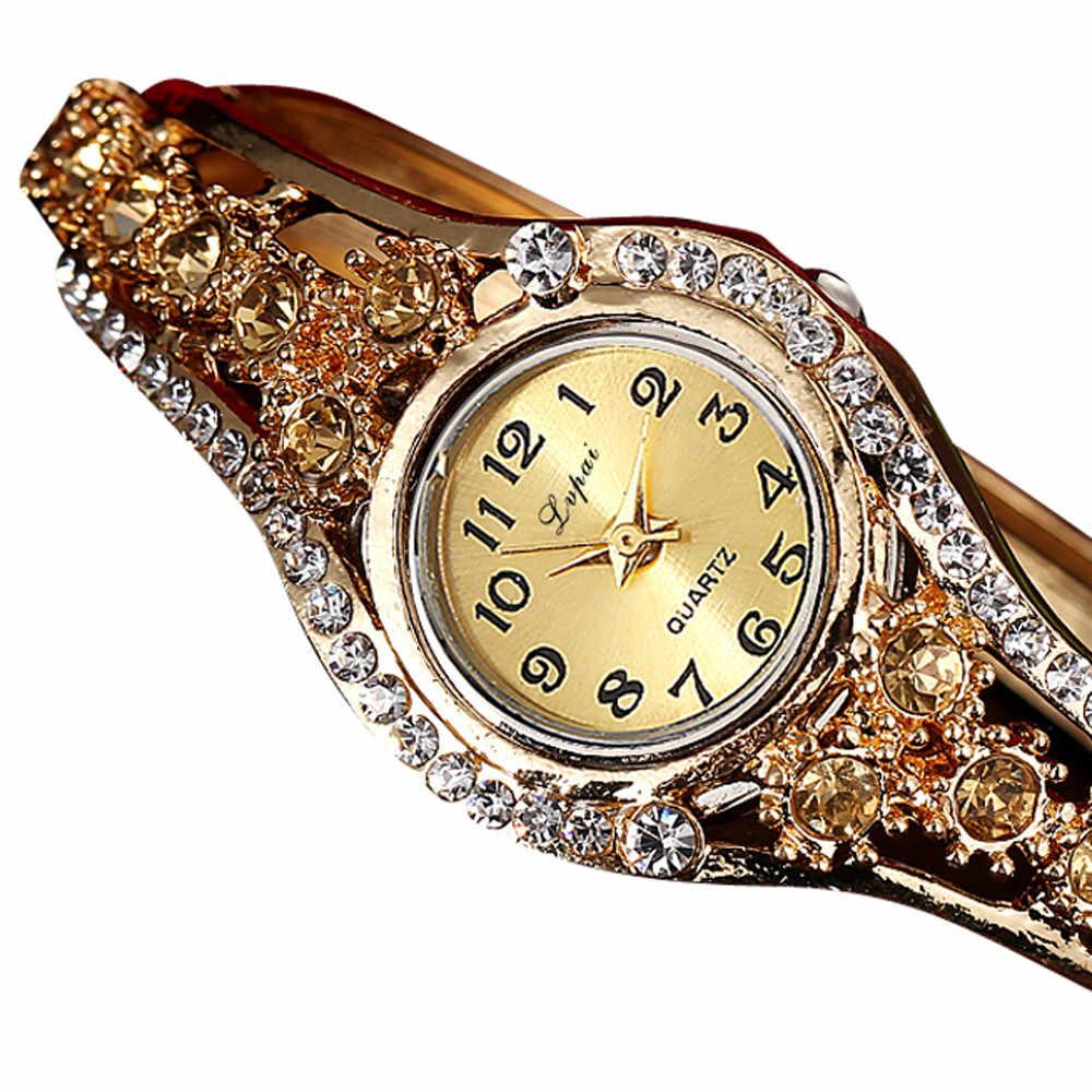 LVPAI, gran oferta, relojes de lujo a la moda para mujer, pulsera de mujer, elegante, informal, pulsera de cuarzo, reloj de pulsera de diamantes de cristal, regalo