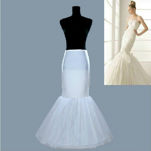 Купить с кэшбэком Wedding dress accessories 1 hoop elastic waist discount elegant bridal mermaid petticoat