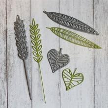 DiyArts Leaf Metal Cutting Dies Scrapbooking Leaves Autumn Harvest Craft Card Making Album Embossing New for 2019