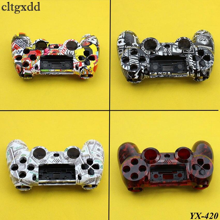 Cltgxdd Für PS4 Controller Case Vorderseite rückseite Oberen Unter Abdeckung Gehäuse Controller Shell Für Sony DualShock 4 Gamepad Glatte